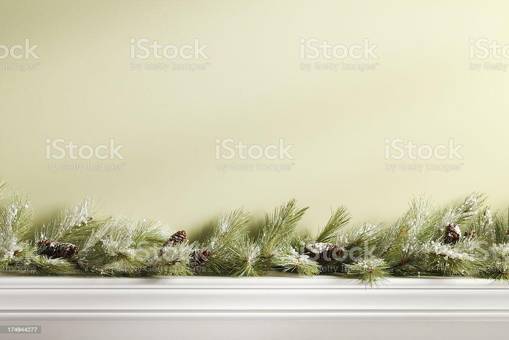 Christmas Mantel royalty-free stock photo