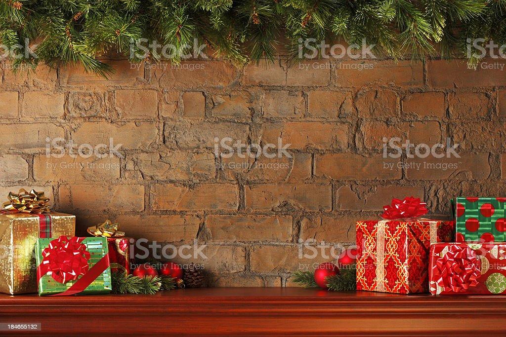 Christmas Mantel stock photo