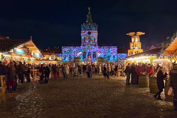 Christmas Market at Charlottenburg Palace in Berlin, Germany stock photo