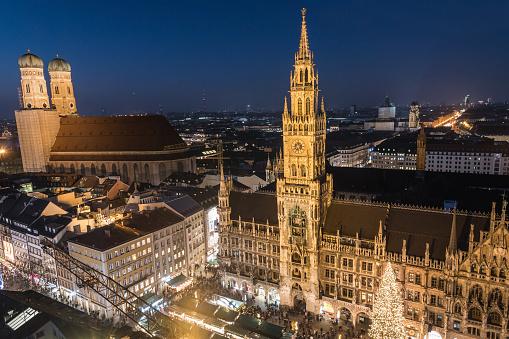 Christmas In Munich Germany.Christmas Market At Marienplatz Munich Germany Stock Photo Download Image Now