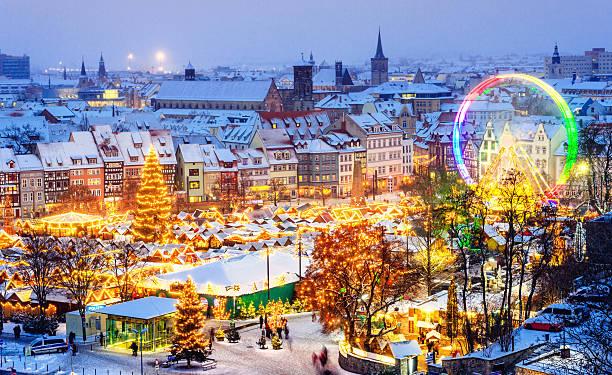 Christmas Market Erfurt stock photo