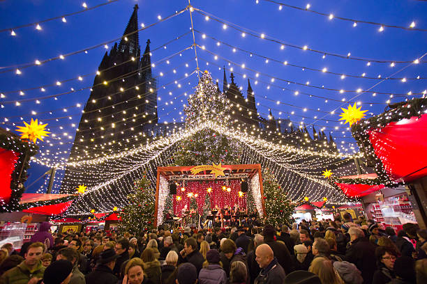Christmas market Germany stock photo
