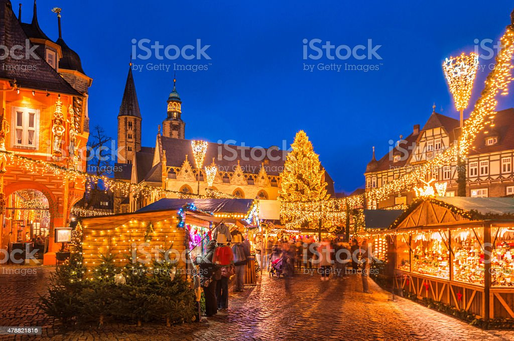Christmas Market Goslar stock photo