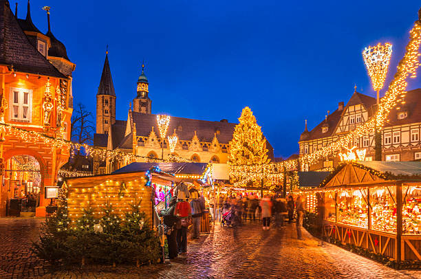 christmas market goslar - german culture stock pictures, royalty-free photos & images
