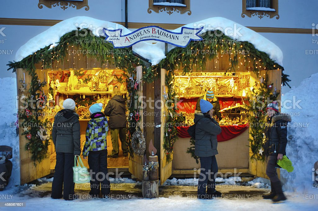 christmas market in Bavaria royalty-free stock photo