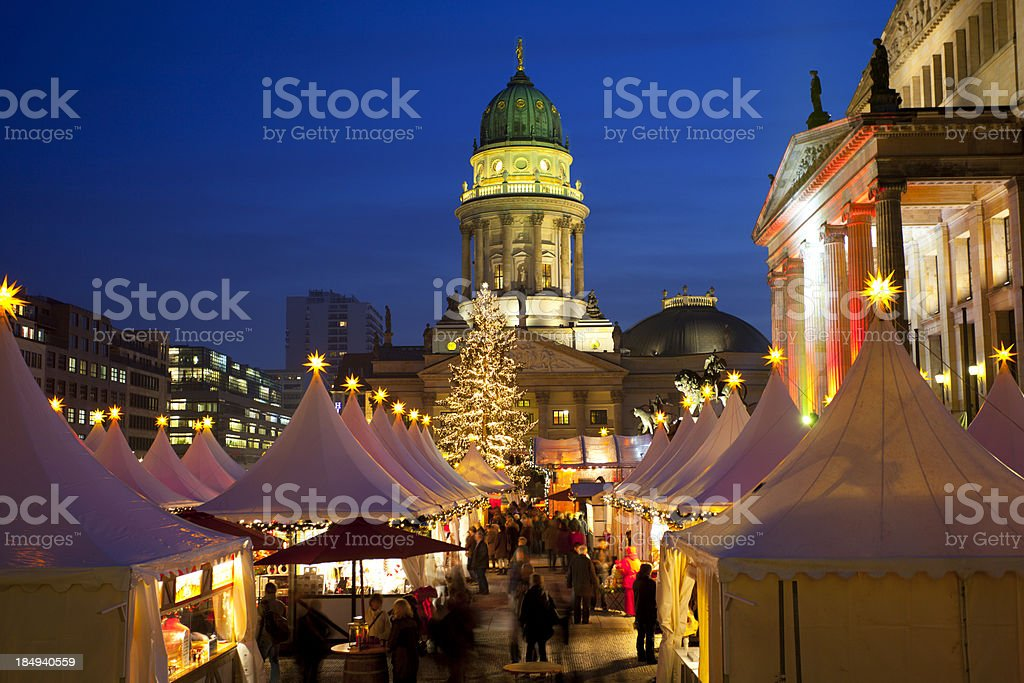 Christmas market in Berlin royalty-free stock photo