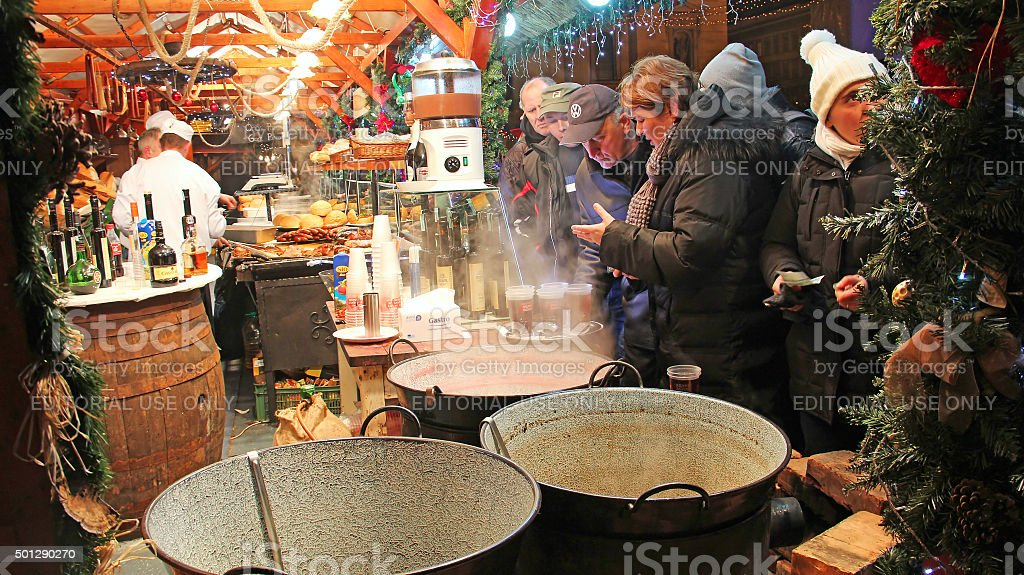 Christmas market in Budapest stock photo