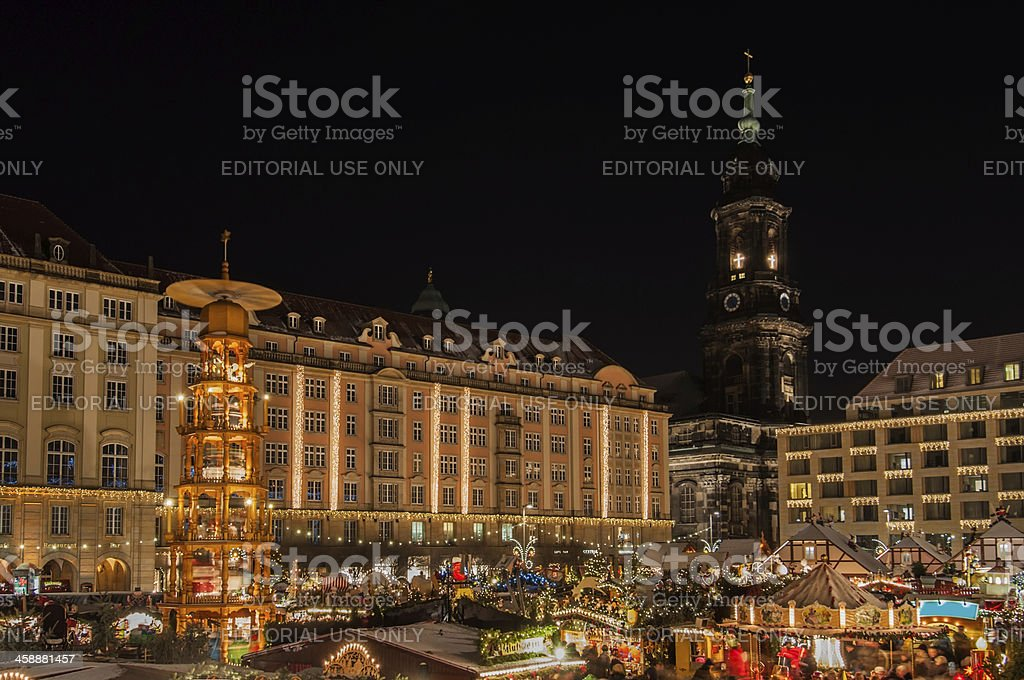 Christmas Market in Dresden royalty-free stock photo