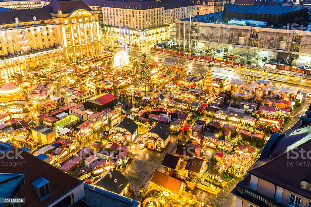 christmas market in dresden royalty free stock photo