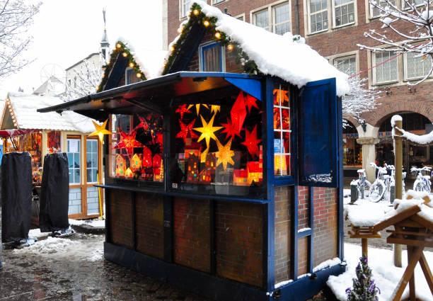 Christmas Market in Dusseldorf, Germany stock photo