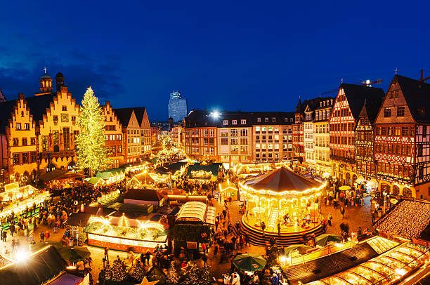 Christmas market in Frankfurt, Germany stock photo