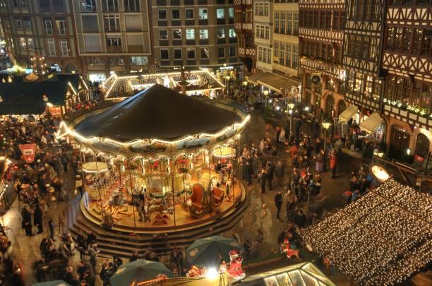Weihnachts-Markt in Frankfurt, Deutschland – Foto