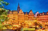 istock Christmas market in Frankfurt 457996383