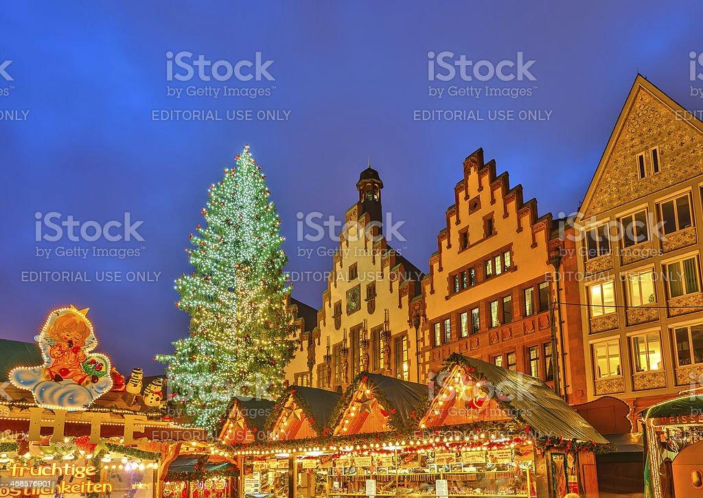 Christmas market in Frankfurt royalty-free stock photo