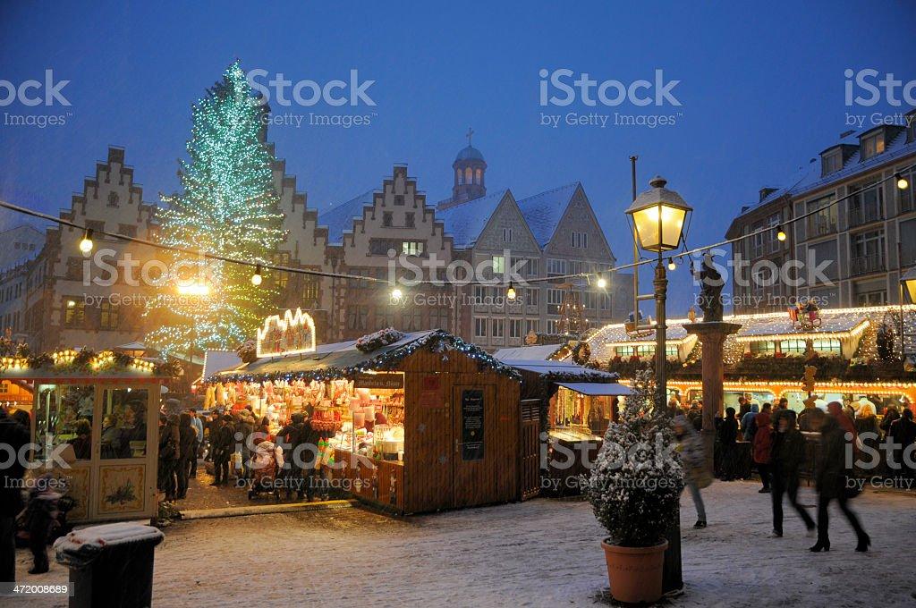Christmas market in Frankfurt stock photo