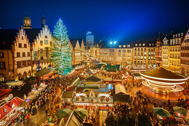 jarmark bożonarodzeniowy w frankfurcie - niemcy zdjęcia i obrazy z banku zdjęć