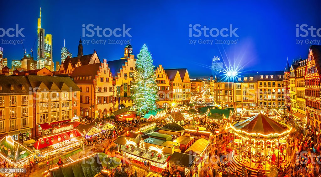 Christmas market in Frankfurt stock photo
