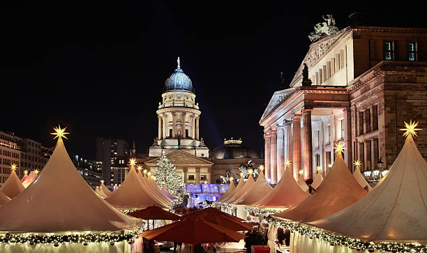Christmas market in Gendarmenmarkt, Berlin Christmas market in Gendarmenmarkt, Berlin gendarmenmarkt stock pictures, royalty-free photos & images