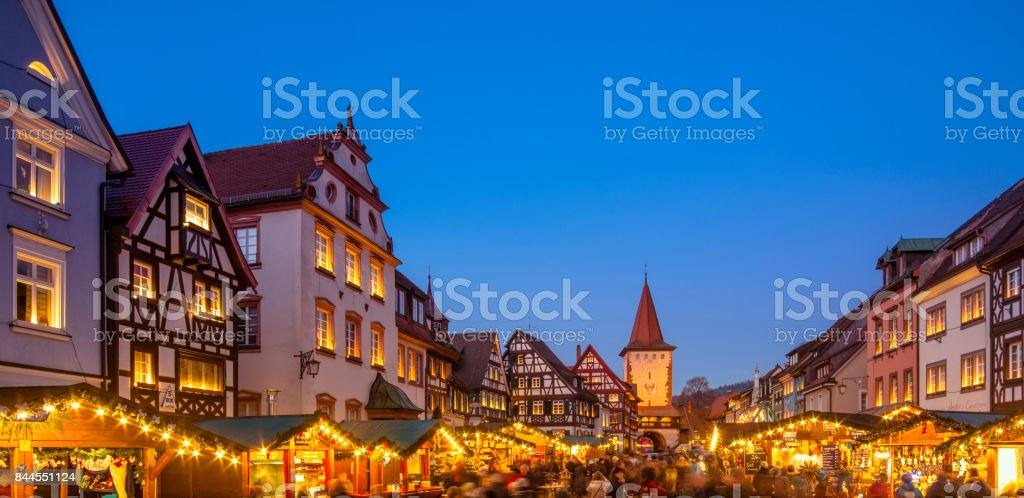 Christmas Market in Gengenbach, Schwarzwald (Black Forest) stock photo