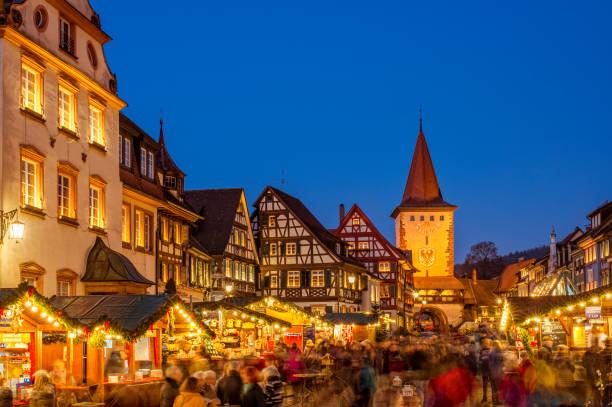 Christmas Market in Gengenbach, Schwarzwald (Black Forest) stock photo