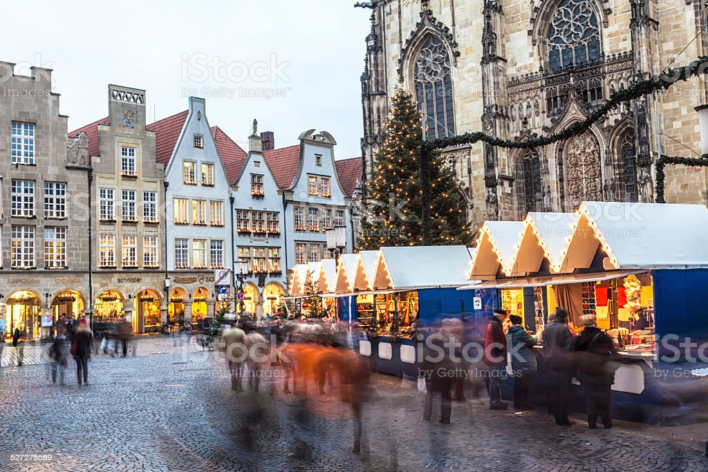 Christmas Market in Münster, Germany stock photo