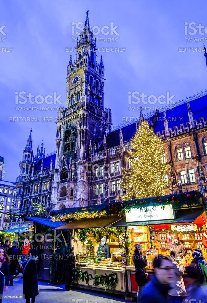 Munich Germany Christmas.Christmas Market In Munich Germany Stock Photo Download