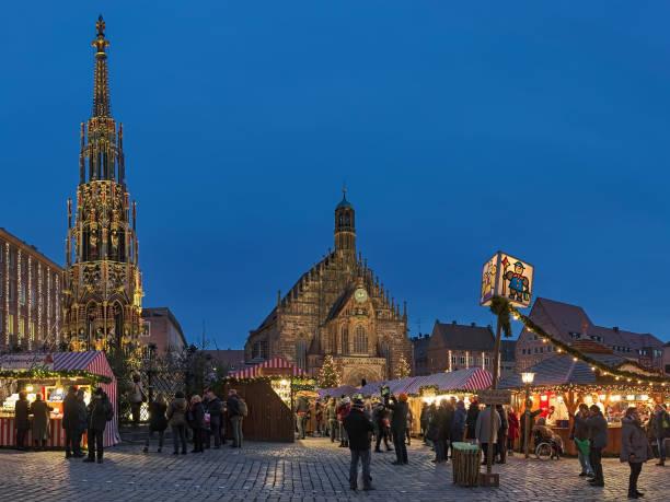 Christmas market in Nuremberg, Germany stock photo