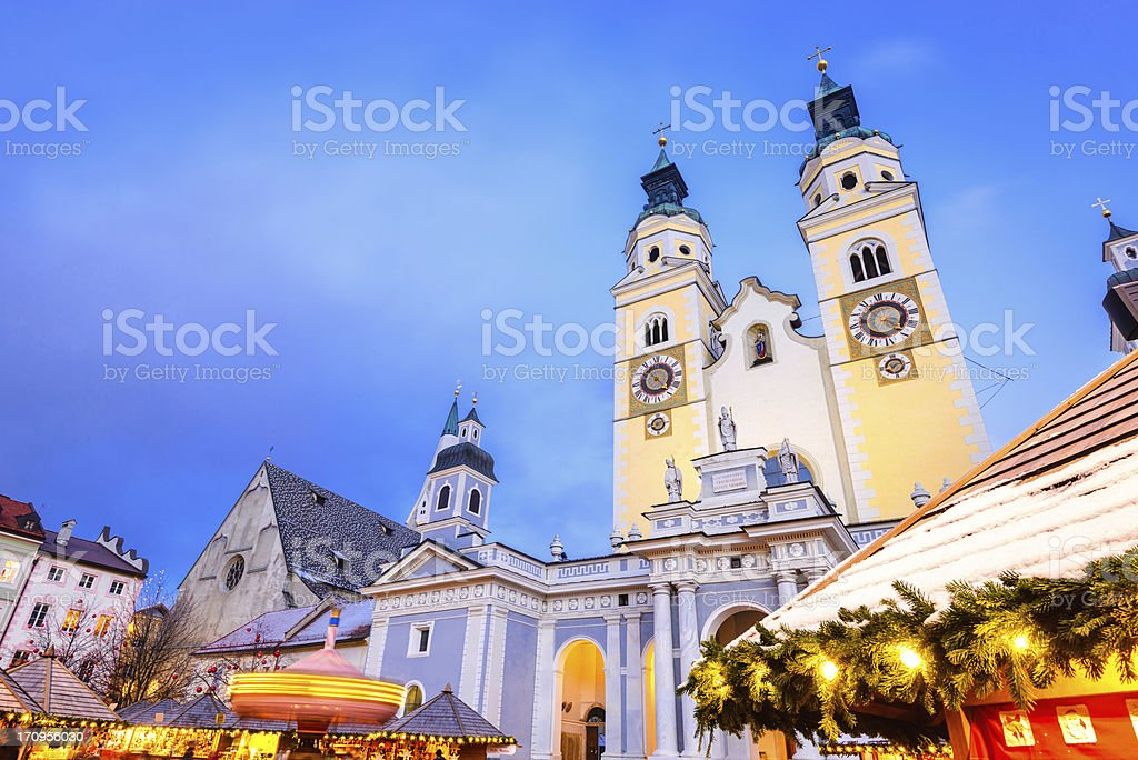 Christmas Market in South Tyrol stock photo