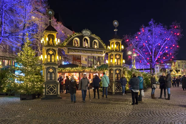 Christmas market in the Old Town of Cologne, Germany stock photo