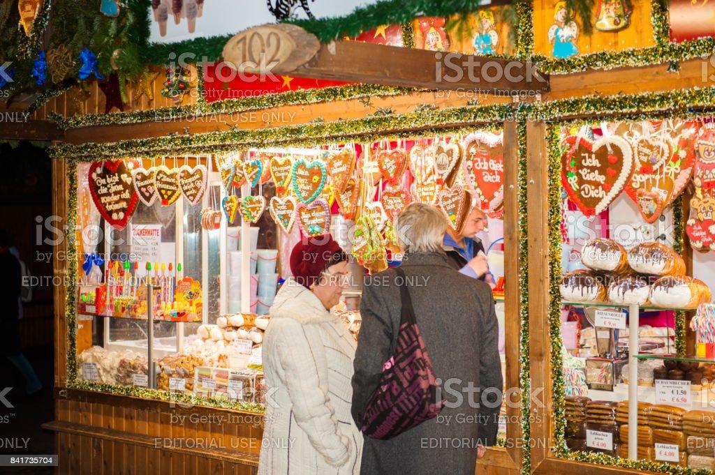 Christmas market in Vienna, Austria stock photo