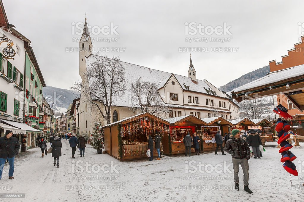 Christmas market in Vipiteno, Italy royalty-free stock photo