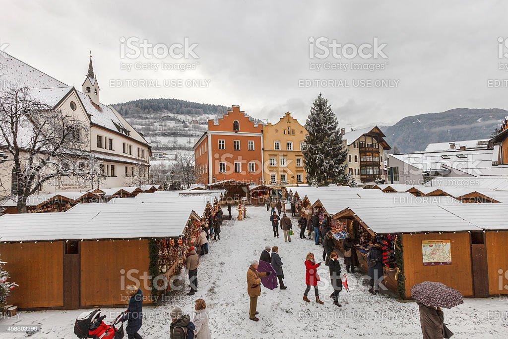 Christmas market in Vipiteno, Italy royalty-free stock photo