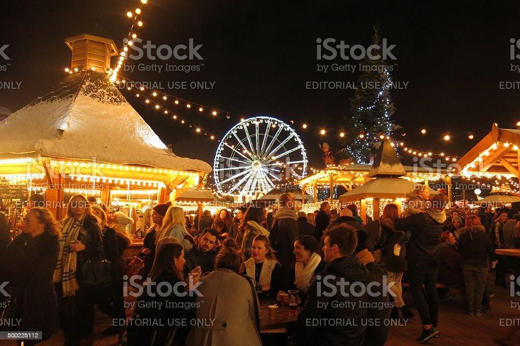 Weihnachtsmarkt London England Winter Wonderland Speisen Und ...
