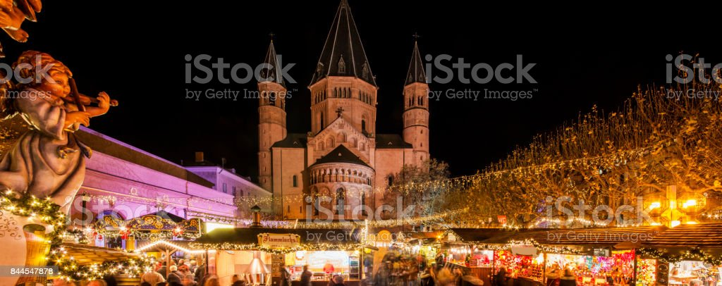Christmas Market Mainz stock photo
