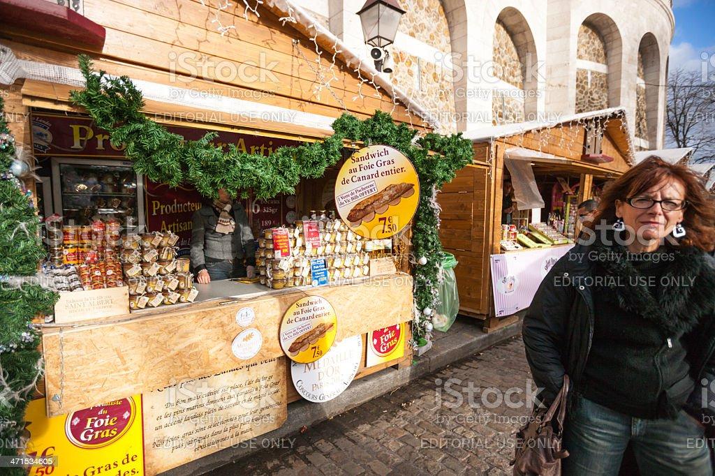 Paris Weihnachtsmarkt.Weihnachtsmarkt Montmartre Village Paris Stockfoto Und Mehr Bilder