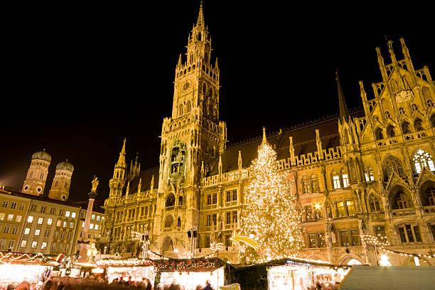 christmas market munich - marienplatz bildbanksfoton och bilder