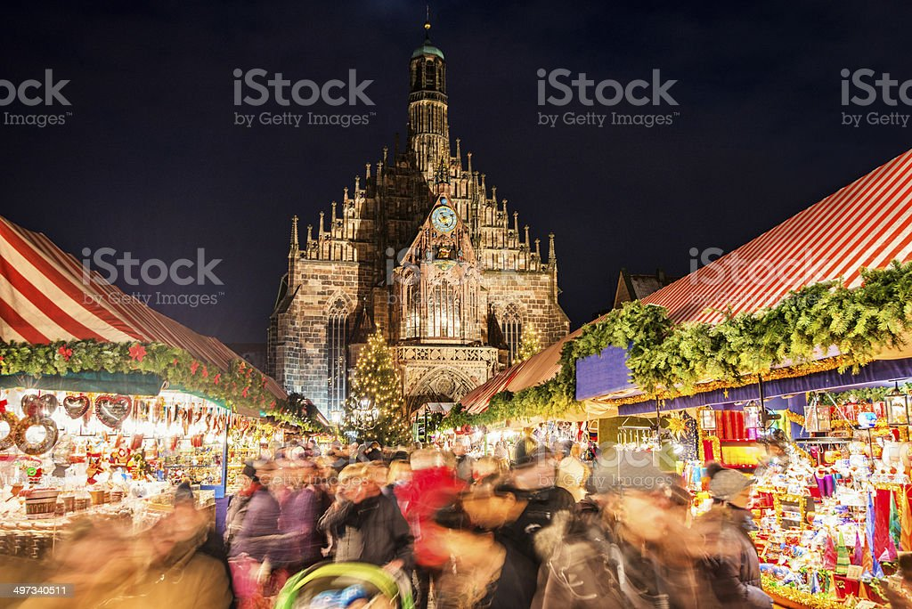 Christmas Market Nuremberg (Nürnberger Christkindlesmarkt) stock photo