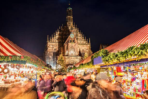 Christmas Market Nuremberg (Nürnberger Christkindlesmarkt) stock photo