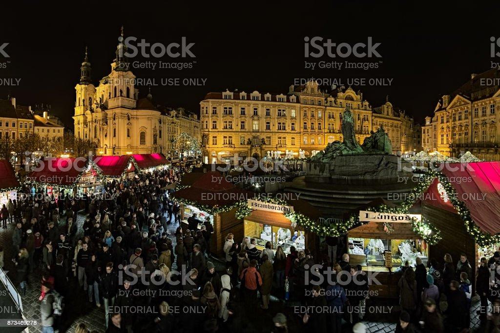 Prague, Czech Republic - December 2, 2011: Christmas market on the...