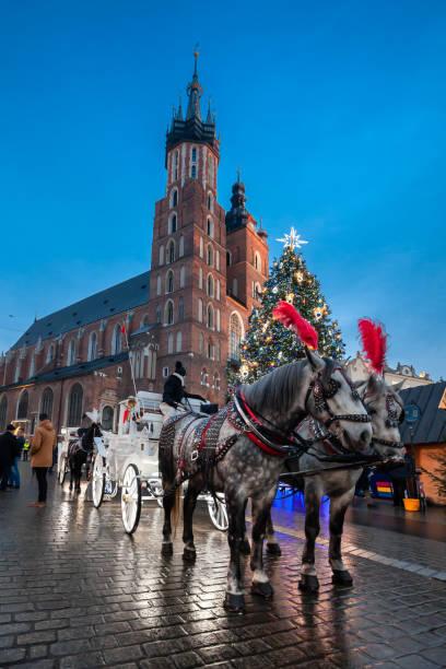 Christmas market stock photo