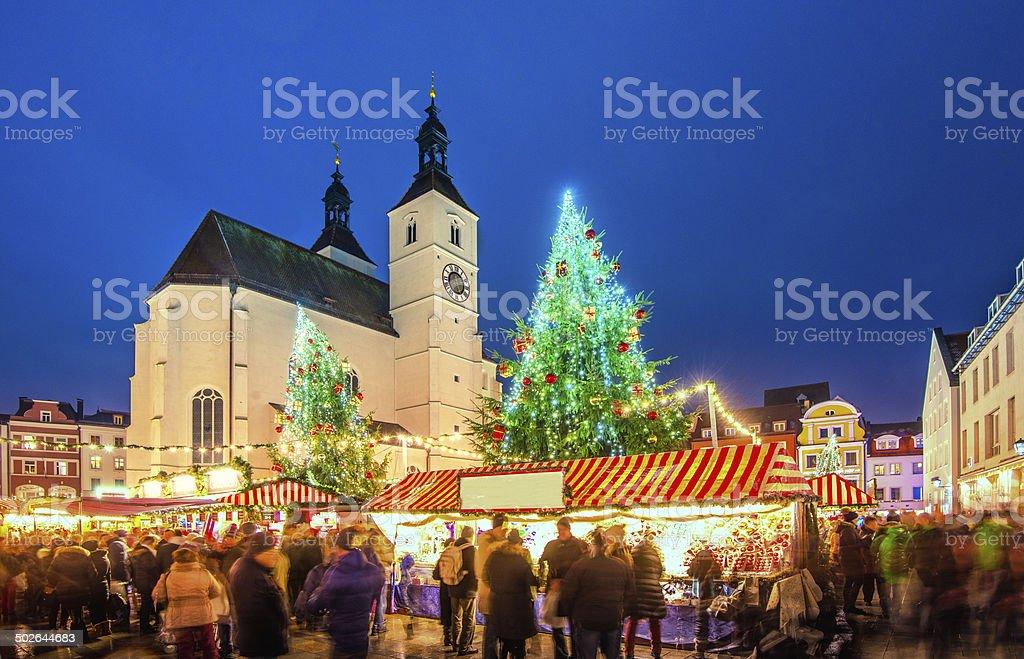 Christmas Market Regensburg stock photo