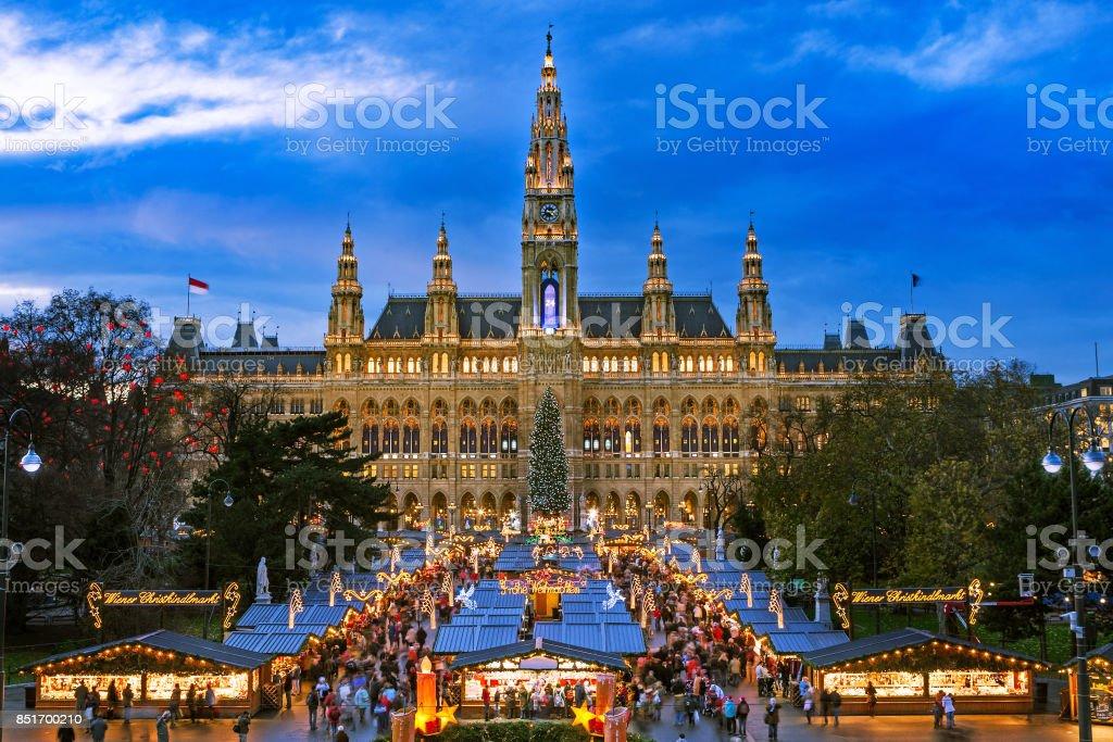 Mercado navideño Vienna - foto de stock