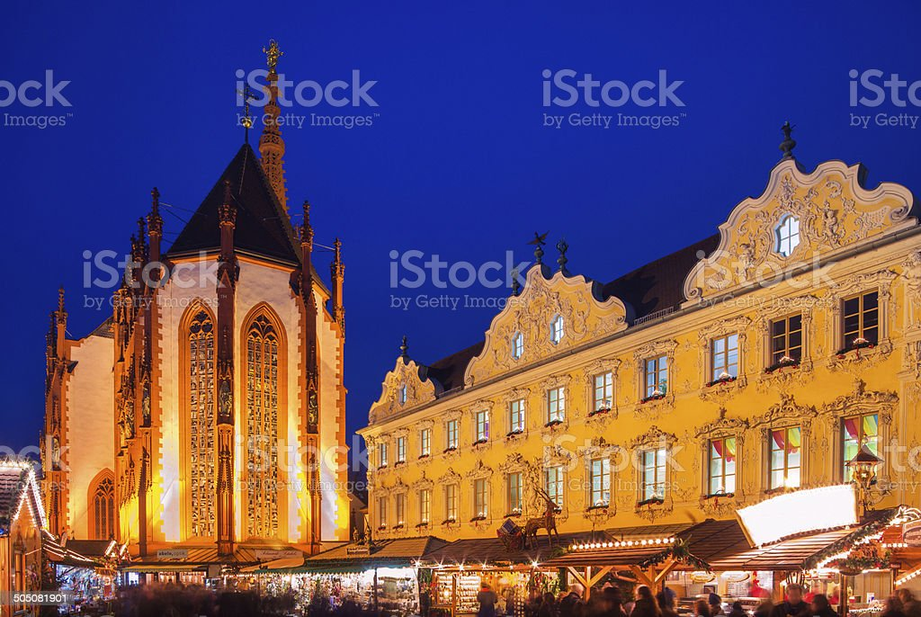 Christmas Market Würzburg royalty-free stock photo