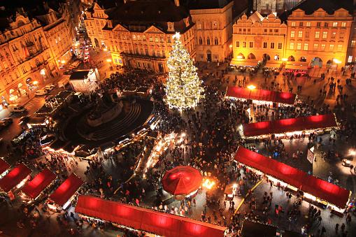 Weihnachtsmärkte In Prag Stockfoto und mehr Bilder von Architektur