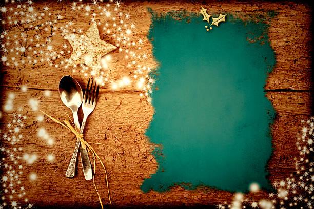 menu di natale sfondo - pranzo di natale foto e immagini stock