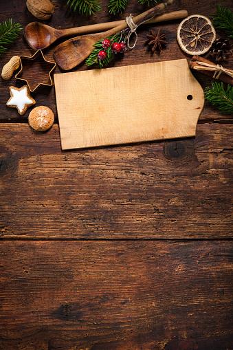 istock Christmas menu card 496096880