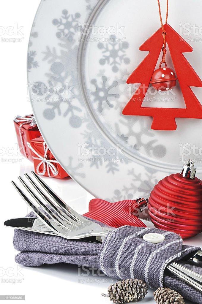 Christmas menu concept stock photo