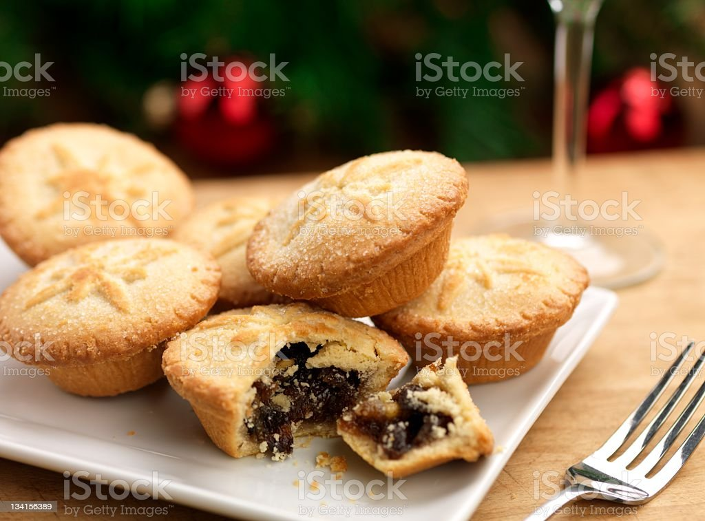 Christmas mince pies royalty-free stock photo