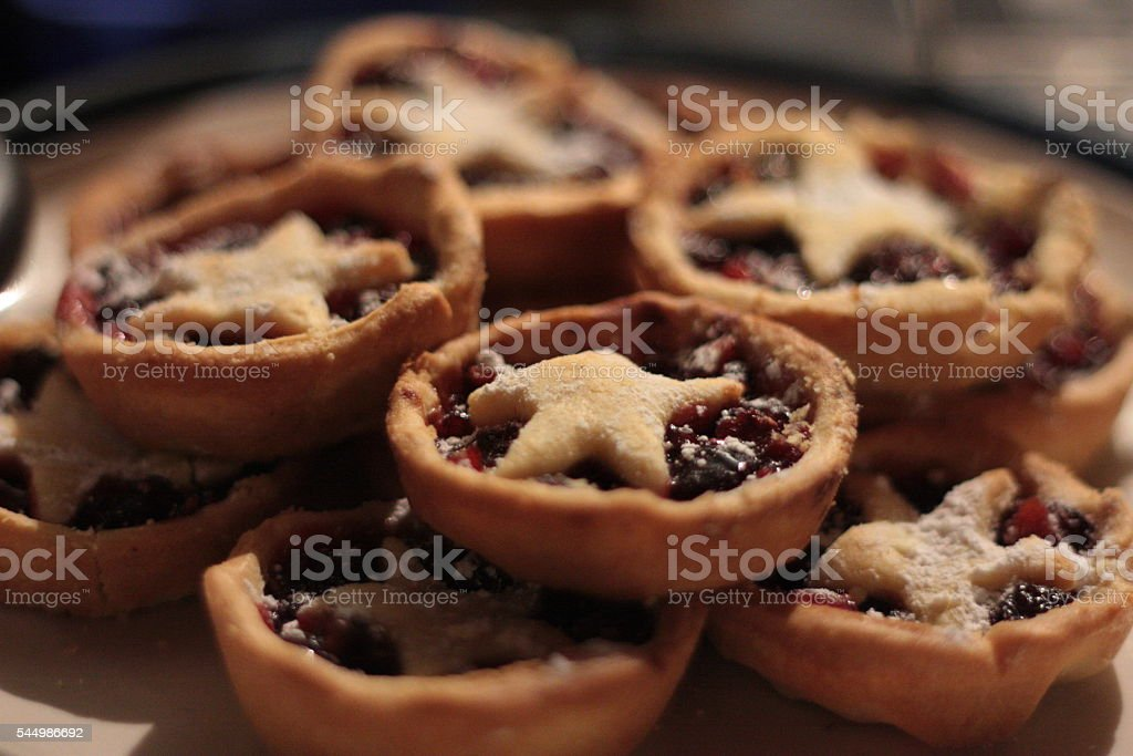Christmas Mince Pies stock photo