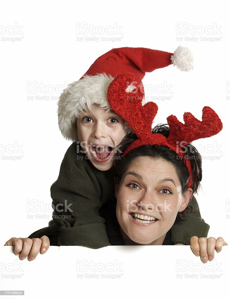Christmas - Mom & Son royalty-free stock photo